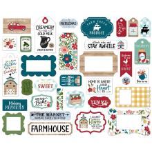 Echo Park Farmers Market Cardstock Die-Cuts 33/Pkg - Frames & Tags