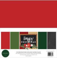 Carta Bella Solid Cardstock 12X12 6/Pkg - Happy Christmas