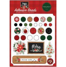 Carta Bella Decorative Brads - Happy Christmas