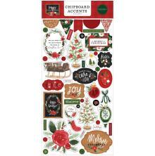 Carta Bella Happy Christmas Chipboard 6X13 - Accents