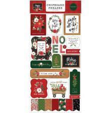 Carta Bella Happy Christmas Chipboard 6X13 - Phrases