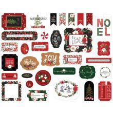Carta Bella Happy Christmas Cardstock Die-Cuts 33/Pkg - Ephemera