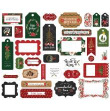 Carta Bella Happy Christmas Cardstock Die-Cuts 33/Pkg - Frames & Tags