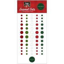 Carta Bella Adhesive Enamel Dots 60/Pkg - Happy Christmas