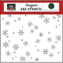 Carta Bella Happy Christmas Stencil 6X6 - Tis The Season