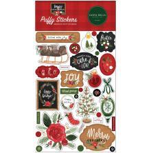 Carta Bella Puffy Stickers - Happy Christmas