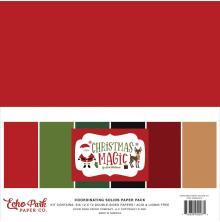 Echo Park Solid Cardstock 12X12 6/Pkg - Christmas Magic