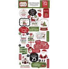 Echo Park Christmas Magic Chipboard 6X13 - Phrases
