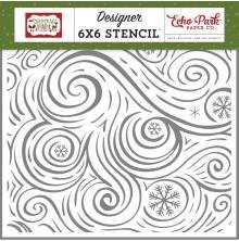 Echo Park Christmas Magic Stencil 6X6 - Seasonal Swirl