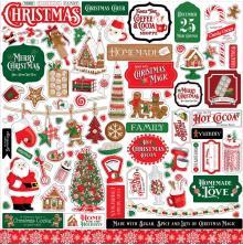 Carta Bella Cardstock Stickers 12X12 - Christmas Cheer