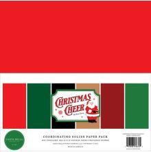 Carta Bella Solid Cardstock 12X12 6/Pkg - Christmas Cheer