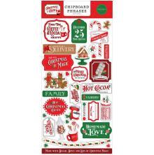 Carta Bella Christmas Cheer Chipboard 6X13 - Phrases