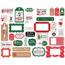 Carta Bella Christmas Cheer Cardstock Die-Cuts 33/Pkg - Frames & Tags