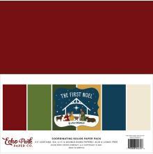 Echo Park Solid Cardstock 12X12 6/Pkg - The First Noel