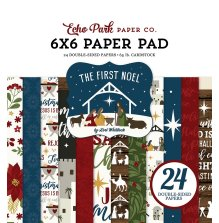 Echo Park Double-Sided Paper Pad 6X6 - The First Noel