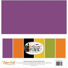 Echo Park Solid Cardstock 12X12 6/Pkg - Halloween Magic