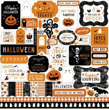 Echo Park Cardstock Stickers 12X12 - Halloween Party