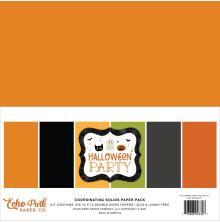 Echo Park Solid Cardstock 12X12 6/Pkg - Halloween Party