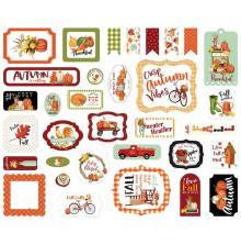 Carta Bella Welcome Autumn Cardstock Die-Cuts 33/Pkg - Ephemera