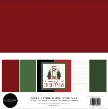 Carta Bella Solid Cardstock 12X12 6/Pkg - Home For Christmas
