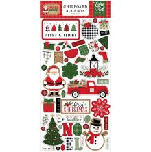 Echo Park Jingle All The Way Chipboard 6X13 - Accents