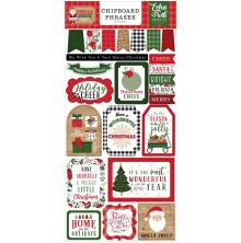 Echo Park Jingle All The Way Chipboard 6X13 - Phrases
