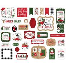 Echo Park Jingle All The Way Cardstock Die-Cuts 33/Pkg - Ephemera