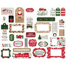 Echo Park Jingle All The Way Cardstock Die-Cuts 33/Pkg - Frames & Tags