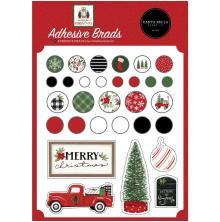 Carta Bella Decorative Brads - Home For Christmas