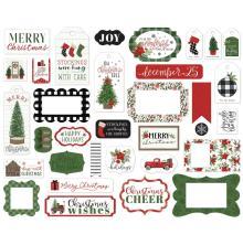 Carta Bella Home For Christmas Cardstock Die-Cuts 33/Pkg - Frames & Tags