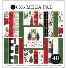 Carta Bella Double-Sided Mega Paper Pad 6X6 - Home For Christmas