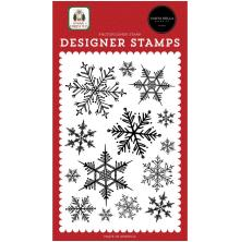 Carta Bella Clear Stamps Home For Christmas 4X6 - Snowflake Season