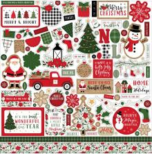 Echo Park Cardstock Stickers 12X12 - Jingle All The Way