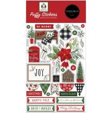 Carta Bella Puffy Stickers - Home For Christmas