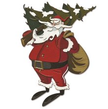 Tim Holtz Sizzix Thinlits Dies - Woodland Santa Colorize