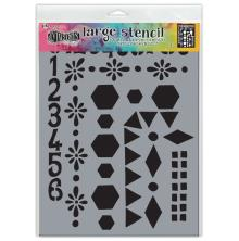 Dylusions Stencil 9X12 - Number Frame