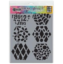 Dylusions Stencil 9X12 - Quilt N More