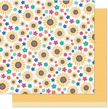 Lawn Fawn Sweater Weather Remix Paper 12X12 - Sunny Remix
