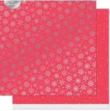 Lawn Fawn Let It Shine Snowflakes Paper 12X12 - Shiver
