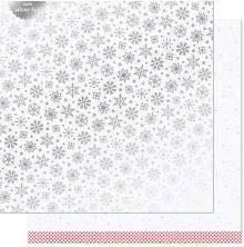 Lawn Fawn Let It Shine Snowflakes Paper 12X12 - Polar