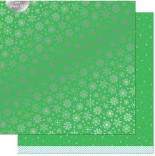 Lawn Fawn Let It Shine Snowflakes Paper 12X12 - Glacial