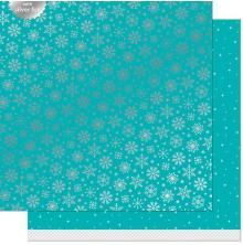 Lawn Fawn Let It Shine Snowflakes Paper 12X12 - Arctic