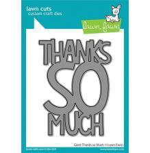 Lawn Fawn Dies - Giant Thanks So Much