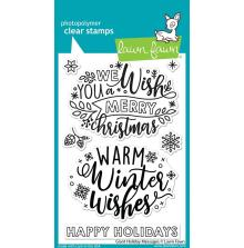 Lawn Fawn Clear Stamps 4X6 - Giant Holiday Messages