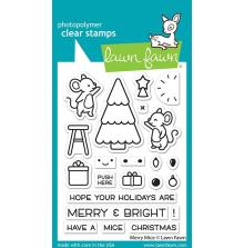 Lawn Fawn Clear Stamps 3X4 - Merry Mice