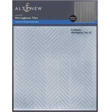 Altenew Embossing Folder - Herringbone Tiles 3D