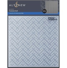 Altenew Embossing Folder - Connected 3D