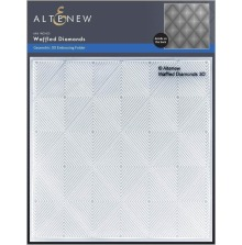 Altenew Embossing Folder - Waffled Diamonds 3D