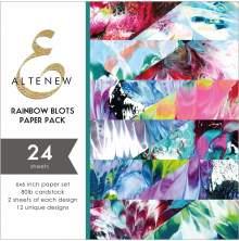 Altenew 6X6 Paper Pack - Rainbow Blots