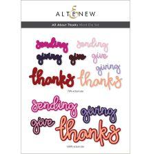 Altenew Die Set - All About Thanks Word